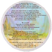 Desiderata - Journey Round Beach Towel