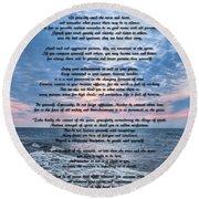 Desiderata Wisdom Round Beach Towel