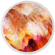 Desire - Abstract Art Round Beach Towel
