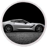 2014 Corvette Stingray Round Beach Towel