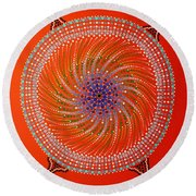 Devil Original Painting Round Beach Towel