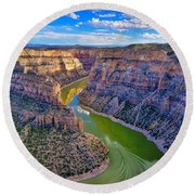 Devil's Canyon Overlook Round Beach Towel