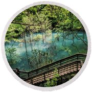 Devil's Millhopper Round Beach Towel