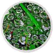 Dew Beads Round Beach Towel
