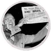 Dewey Defeats Truman Newspaper Round Beach Towel