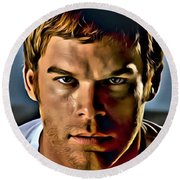Dexter Portrait Round Beach Towel