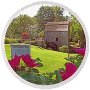 Dexters Grist Mill Two Round Beach Towel