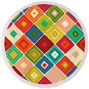 Diamante Round Beach Towel by Sharon Turner