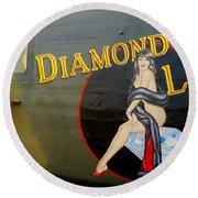 Diamond Lil B-24 Bomber Round Beach Towel by Amy McDaniel