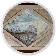 Round Beach Towel featuring the mixed media Diamonds Are Forever by Ron Davidson