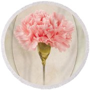 Dianthus Caryophyllus Carnation Round Beach Towel