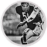 Dick Butkus Round Beach Towel