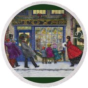 The Toy Shop Round Beach Towel