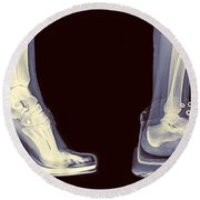 Different Shoes X-ray  Round Beach Towel