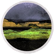 Digital Powell Round Beach Towel