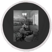 Dining Room In Helena Rubinstein's Home Round Beach Towel