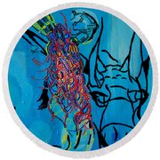 Dinka Groom - South Sudan Round Beach Towel