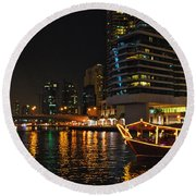 Dinner Cruise Dubai Round Beach Towel