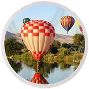 Dip In The River Round Beach Towel