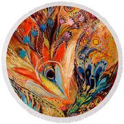 Diptych The Moments Of Love Part I Round Beach Towel