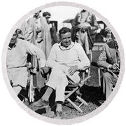 Director Douglas Fairbanks Round Beach Towel