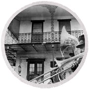 Dirge For Bourbon House Round Beach Towel by Underwood Archives