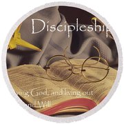 Discipleship Round Beach Towel by Sharon Elliott