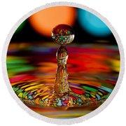 Disco Ball Drop Round Beach Towel by Anthony Sacco