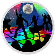 Disco Fever Round Beach Towel