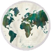 Discover The World Round Beach Towel