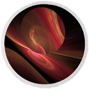 Disk Swirls Round Beach Towel by GJ Blackman