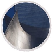 Disney Hall Abstract Round Beach Towel