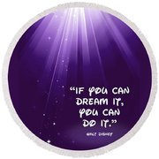 Disney's Dream It Round Beach Towel