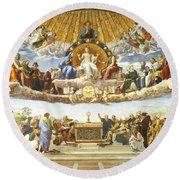 Disputation Of Holy Sacrament. Round Beach Towel