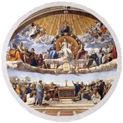 Disputation Of The Eucharist  Round Beach Towel