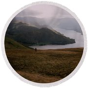 Distant Hills Cumbria Round Beach Towel