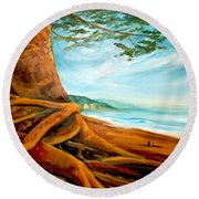 Distant Shores Rejoice Round Beach Towel