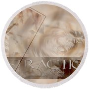Round Beach Towel featuring the photograph Distraction by Vicki Ferrari