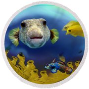 Diver's Perspective Round Beach Towel