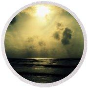 Divine Light Round Beach Towel