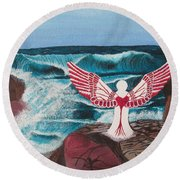 Divine Power Round Beach Towel