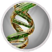 Dna And Technology Round Beach Towel