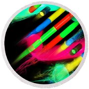 Round Beach Towel featuring the digital art Dna Dreaming 8 by Russell Kightley