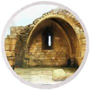 Round Beach Towel featuring the photograph Do-00427 Citadel Of Sidon by Digital Oil
