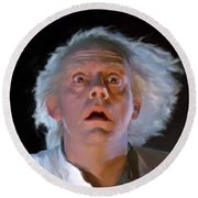 Doc Brown Round Beach Towel