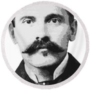 Doc Holliday Of The Old West Round Beach Towel