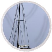 Round Beach Towel featuring the photograph Docked At Bay by Lilliana Mendez