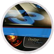 Round Beach Towel featuring the photograph Dodge By Petty by Gordon Dean II