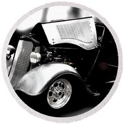 Classic Cars Round Beach Towel featuring the photograph Dodge Power by Aaron Berg