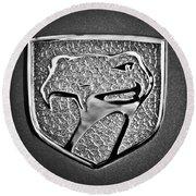 Dodge Viper Emblem -217bw Round Beach Towel by Jill Reger